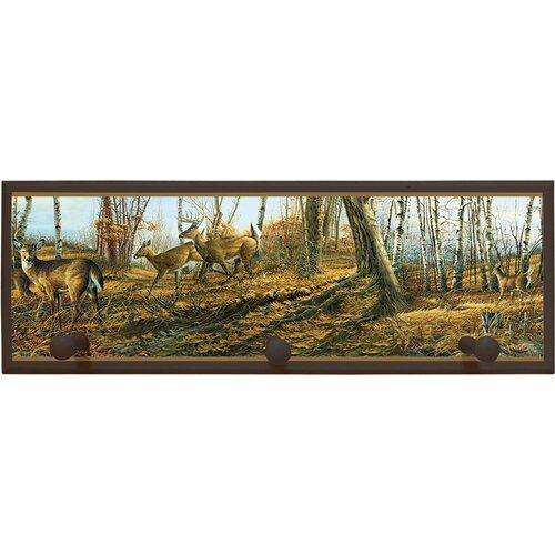 Wild Deer Painting Print on Plaque