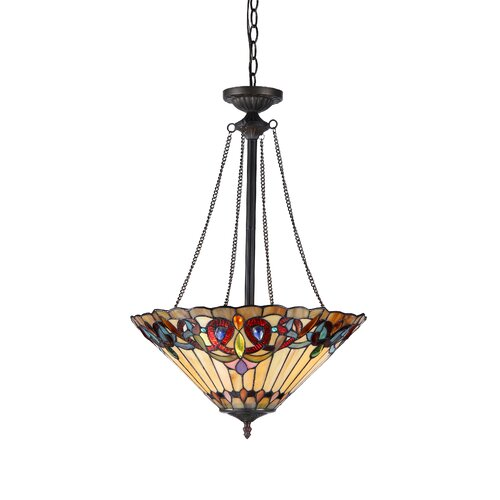 Victorian 2 Light Ambrose Inverted Ceiling Pendent