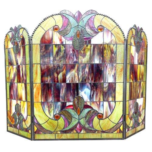 Victorian 3 Panel Delora Fireplace Screen