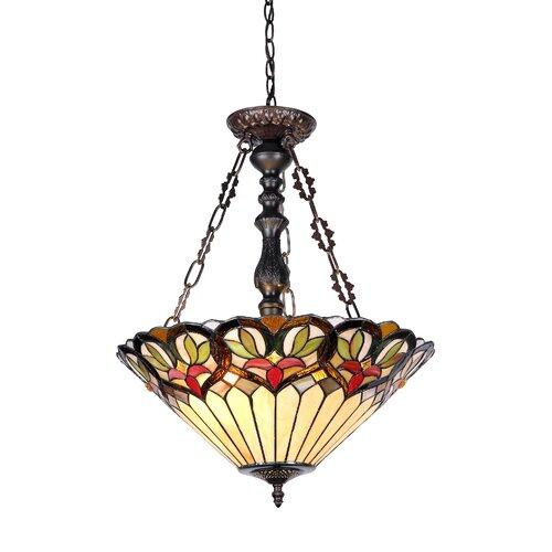 Victorian 2 Light Jasper Inverted Ceiling Pendent