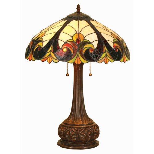 "Chloe Lighting Tiffany Victorian 24"" H Table Lamp with Bowl Shade"