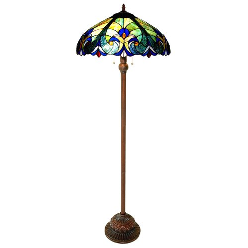 Chloe Lighting Tiffany Style Victorian Floor Lamp 306 Glass Pieces