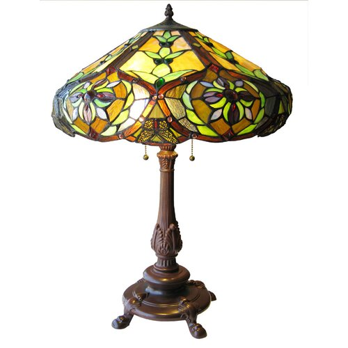 "Chloe Lighting Tiffany Victorian 27"" H Table Lamp with Bowl Shade"