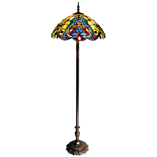 Chloe Lighting Tiffany Style Victorian Double Lit Floor Lamp