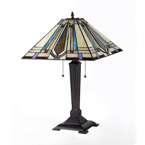 "Chloe Lighting Devon 24"" H Table Lamp with Square Shade"