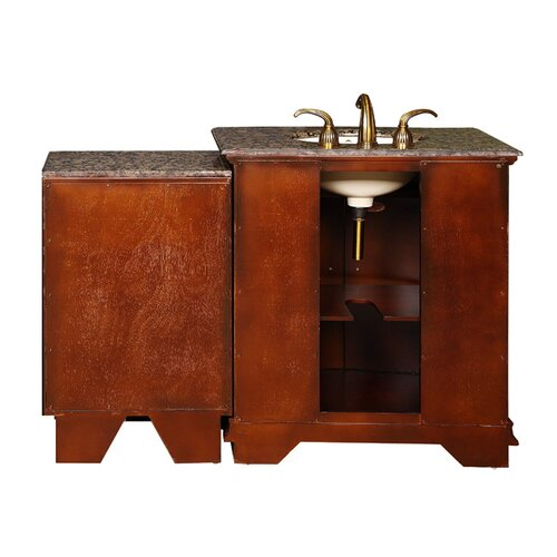 "Silkroad Exclusive Empress 53"" Single Sink Bathroom Vanity Set"