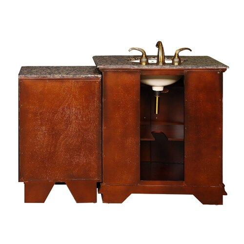 "Silkroad Exclusive Empress 53"" Single Sink Bathroom Vanity Set"