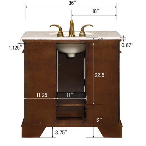 """Silkroad Exclusive Bradford 36"""" Single Bathroom Vanity Set"""
