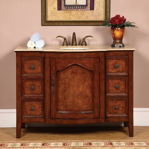 "Silkroad Exclusive Crawford 48"" Single Bathroom Vanity Set"