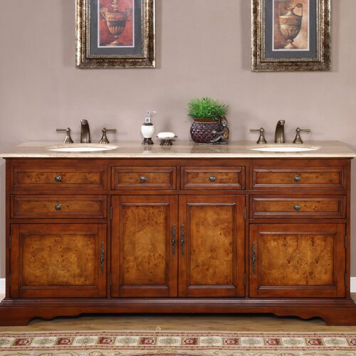 "Silkroad Exclusive York 72"" Double Bathroom Vanity Set"