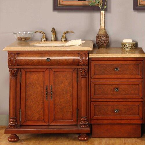 silkroad exclusive hamilton 58 quot single bathroom vanity set