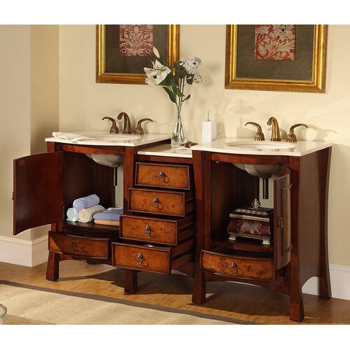 "Silkroad Exclusive Northampton  67"" Double Bathroom Vanity Set"