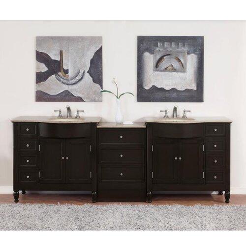Silkroad Exclusive Hamilton 95 Double Bathroom Vanity Set Reviews Wayfair