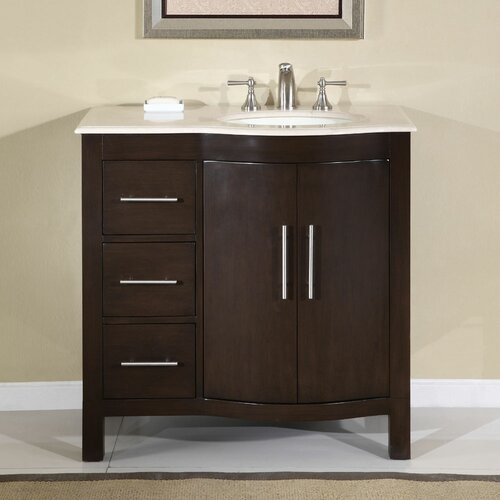 "Silkroad Exclusive Kimberly 36"" Single Sink Bathroom Vanity Set"