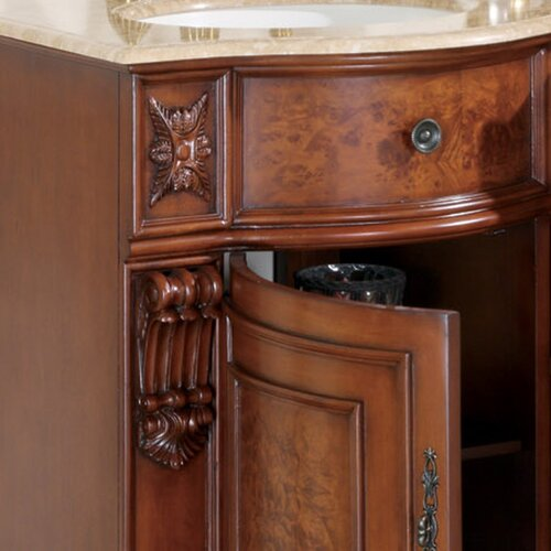 "Silkroad Exclusive Warren 55"" Double Bathroom Vanity"
