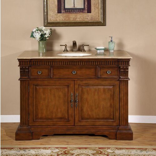 "Silkroad Exclusive Windham 48"" Single Bathroom Vanity Set"