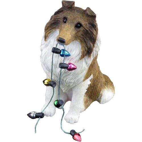 Sable Collie Christmas Ornament
