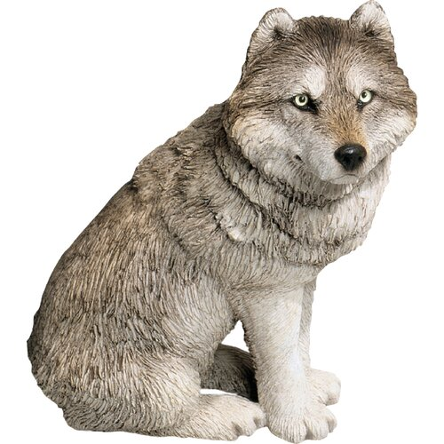 Mid Size Wolf Sculpture