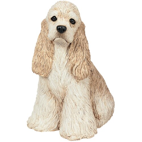 Sandicast Small Size Sitting Cocker Spaniel Sculpture