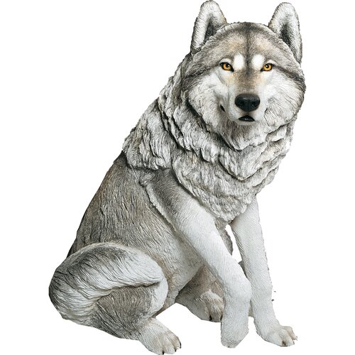 Sandicast Life Size Large Wolf Sculpture