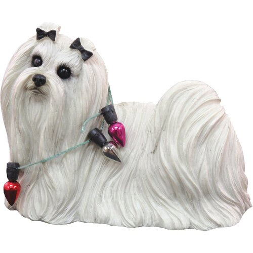 Sandicast Standing Maltese Christmas Ornament