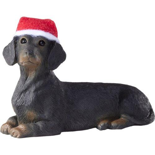 Black Dachshund Christmas Ornament