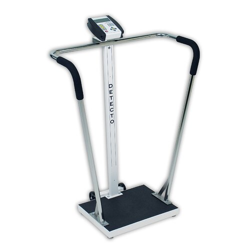 Portable High Capacity Digital Scale with Wrap Around Tubular Handrails
