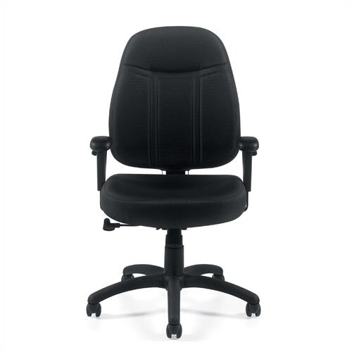 Offices To Go Mid-Back Fabric Office Chair with Arms
