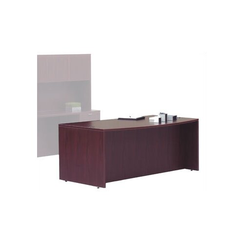 Offices To Go Superior Laminate Bow Front Executive Desk Shell