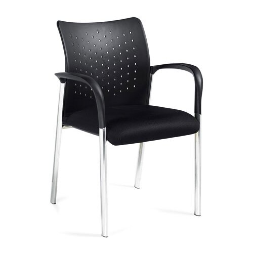 Offices To Go Stack and Guest Stack Chair with Arms