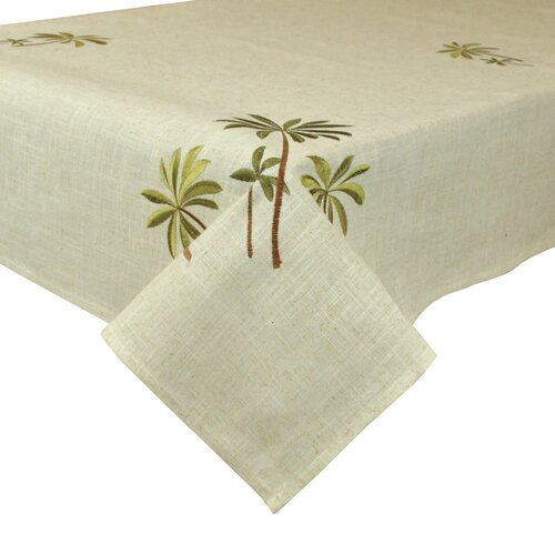Palm Trees Embroidered Table Cloth