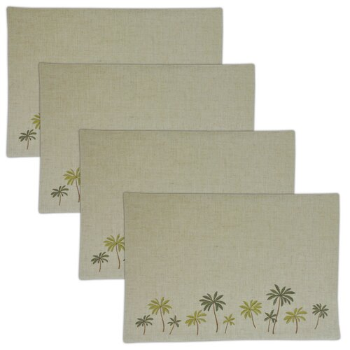 Palm Tree Embroidered Placemat (Set of 4)