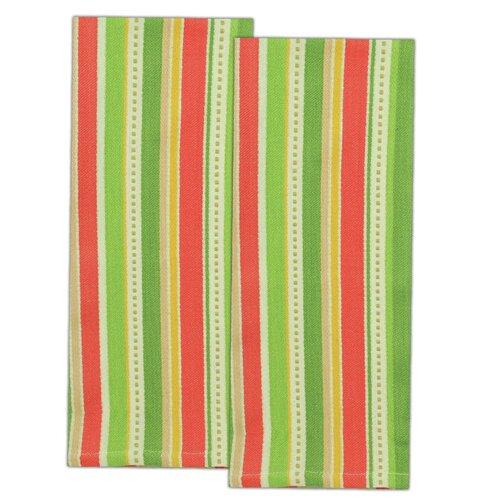Palm Tree Stripe Dishtowel (Set of 2)