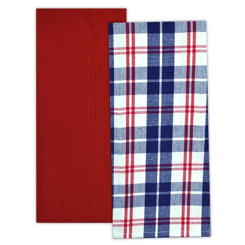 2 Piece Flag Stripe Dishtowel Set