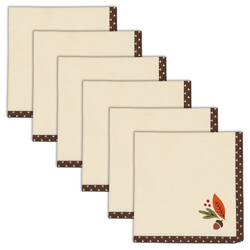 Acorn Dots Printed Napkin (Set of 6)