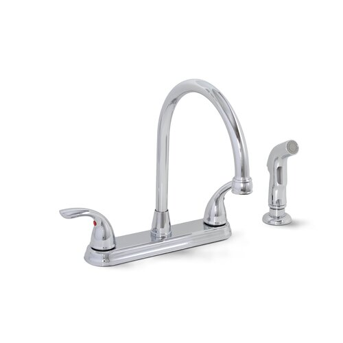 Premier Faucet Bayview Two Handle Centerset Kitchen Faucet with Matching Spray