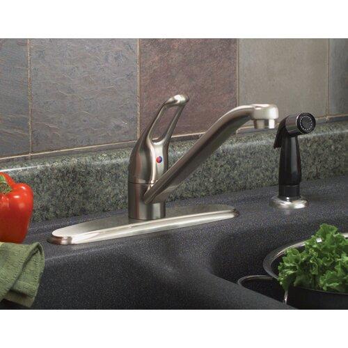 Premier Faucet Bayview Single Handle Centerset Kitchen Faucet with Spray