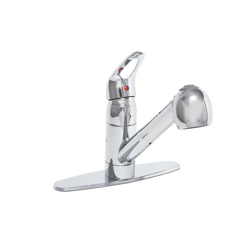 Bayview One Handle Centerset Pull-Out Kitchen Faucet