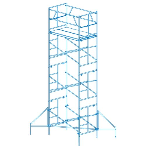 Granite Industries Homebuilder 15' H x 1.6' W x 6' D Scaffold Tower with Casters