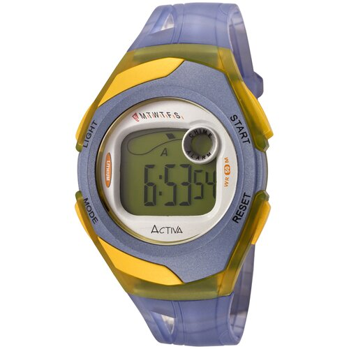 """Activa Watches Women""""s Digital Multi-Function Watch in Blue Transparent"""