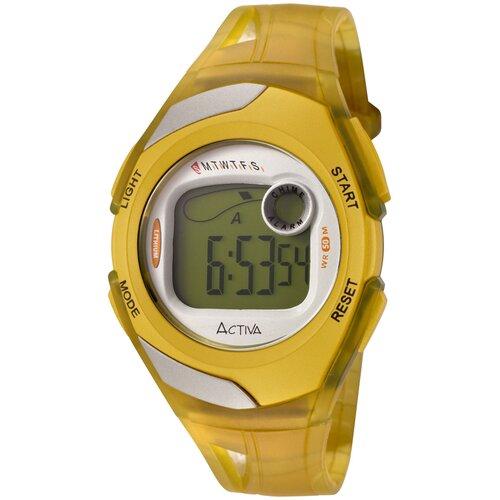 Women's Digital Multi-Function Watch in Yellow Transparent