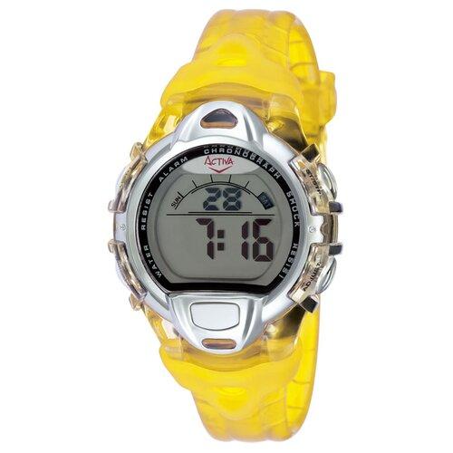 Midsize Plastic Digital Watch in Yellow