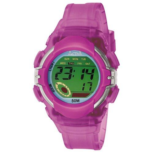 Women's Plastic Digital Multi-Function Watch in Lilac