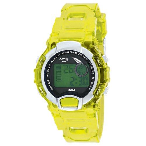 Midsize Digital Watch with Yellow Strap