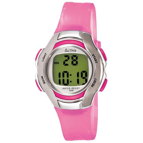 Women's Digital Multi-Function Watch in Pink Transparent