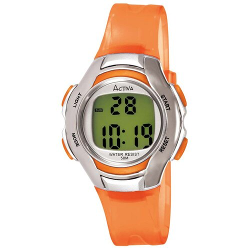 Women's Digital Multi-Function Watch with Orange Transparent Strap