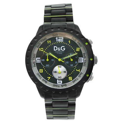 Men's Classic Watch with Black Chronograph Dial