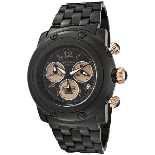 Glam Rock Women's Miami Chronograph Ion Plated Round Watch