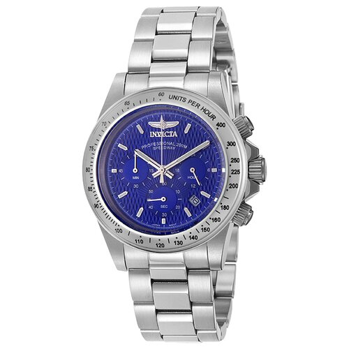 Men's speedway Stainless Steel Watch with Blue Dial