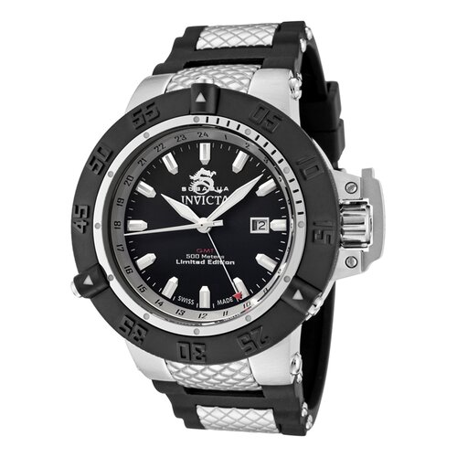 Men's Subaqua GMT Dial Watch in Black